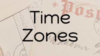 Permalink to: Time Zones