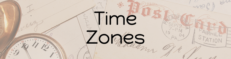 Time Zones for #ANZAncestryTime