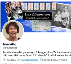 Twitter profile example - Fran