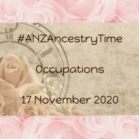 #ANZAncestryTime Occupations 17 November 2020